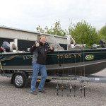 Daan Verbruggen mit seinem Boot