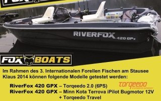 FOXBOATS – Testtage am Stausee Klaus – 3.-6. April 2014